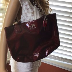 Coach purse dark red